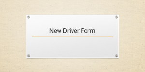 New Driver Form
